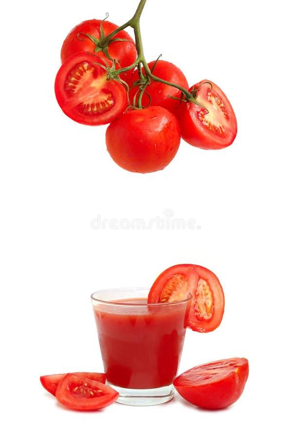 Jugo de tomate foto de archivo