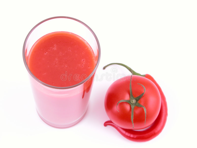 Jugo De Tomate Picante Imagenes de archivo