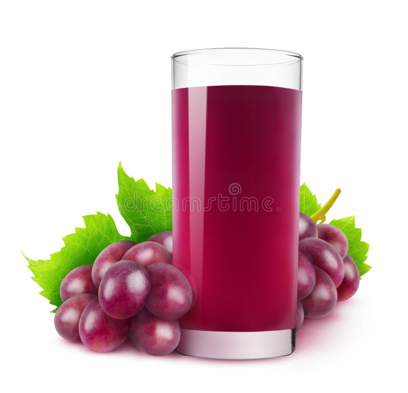 Jugo de uva roja aislado imagen de archivo