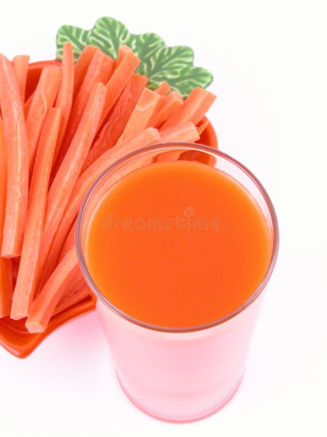 Jugo de zanahoria foto de archivo