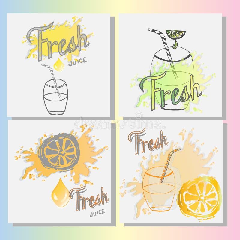 Jugo fresco Logo Template, ejemplo libre illustration