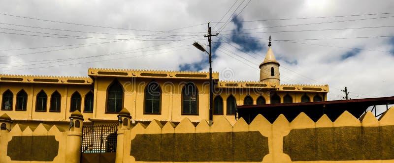 jugol的哈勒尔埃塞俄比亚盛大雅米清真寺 免版税图库摄影