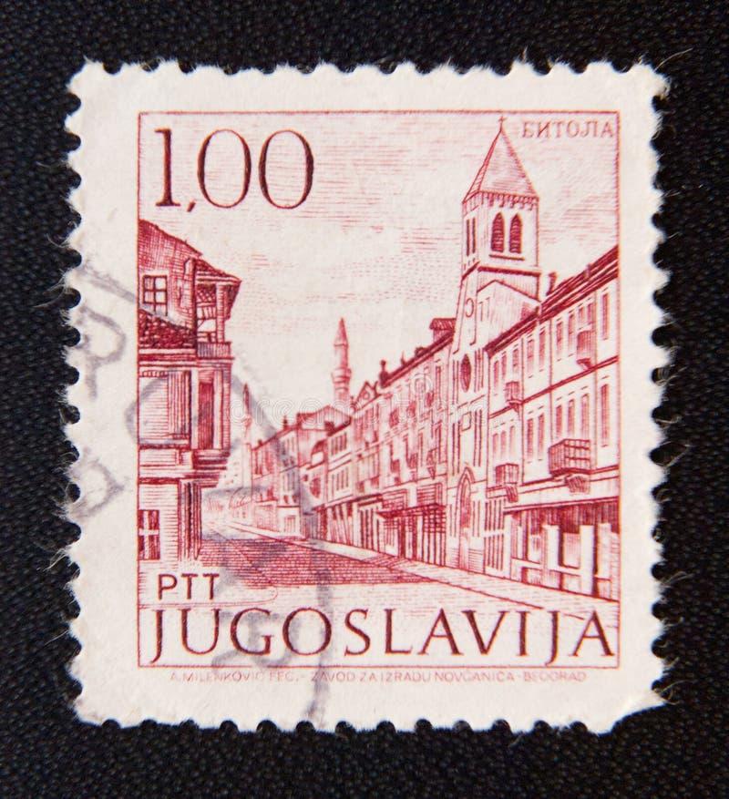 Jugoslávia cerca das mostras um museu da cultura na cidade de Bitola imagem de stock royalty free