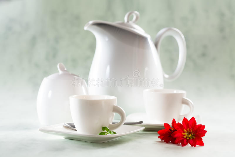 Download Jugs and cups stock image. Image of coffee, flower, green - 25990657