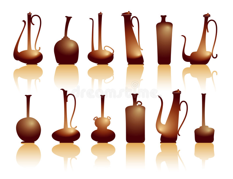 Download Jugs&teapots stock vector. Image of pattern, object, ceramic - 3615924
