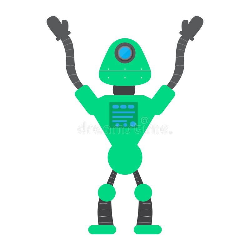 Juguete aislado del robot - vector libre illustration