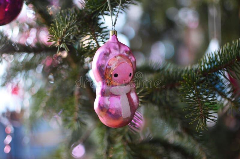 Juguete antiguo del árbol de navidad imágenes de archivo libres de regalías