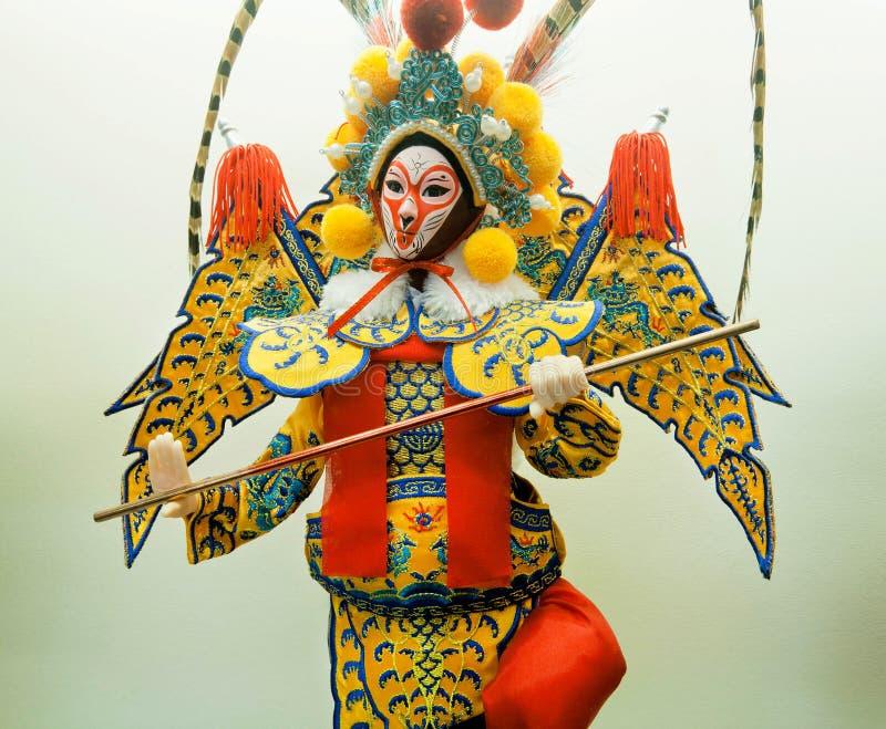 Juguete chino de la ópera tradicional de China Maniquí en paño colorido foto de archivo libre de regalías