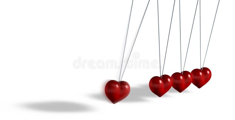 Juguete cinético con los objetos en forma de corazón stock de ilustración