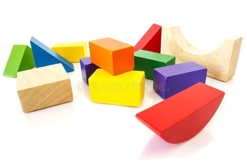 Juguete colorido del bloque de madera imagen de archivo libre de regalías