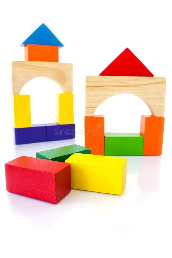Juguete colorido del bloque de madera imágenes de archivo libres de regalías