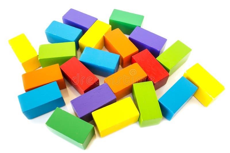 Juguete colorido del bloque de madera fotografía de archivo libre de regalías