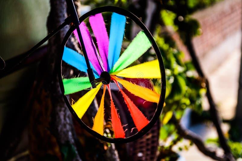 Juguete colorido del pinwheel imagen de archivo