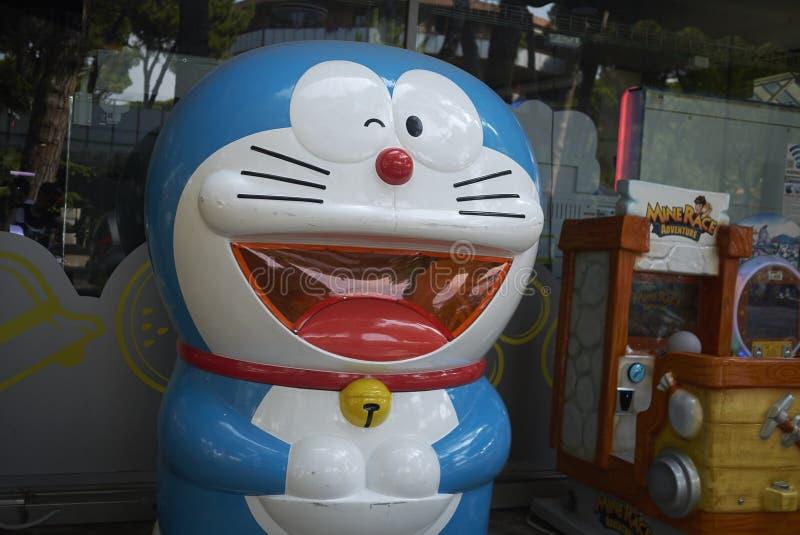 Juguete de Doraemon en una casa del juego foto de archivo libre de regalías