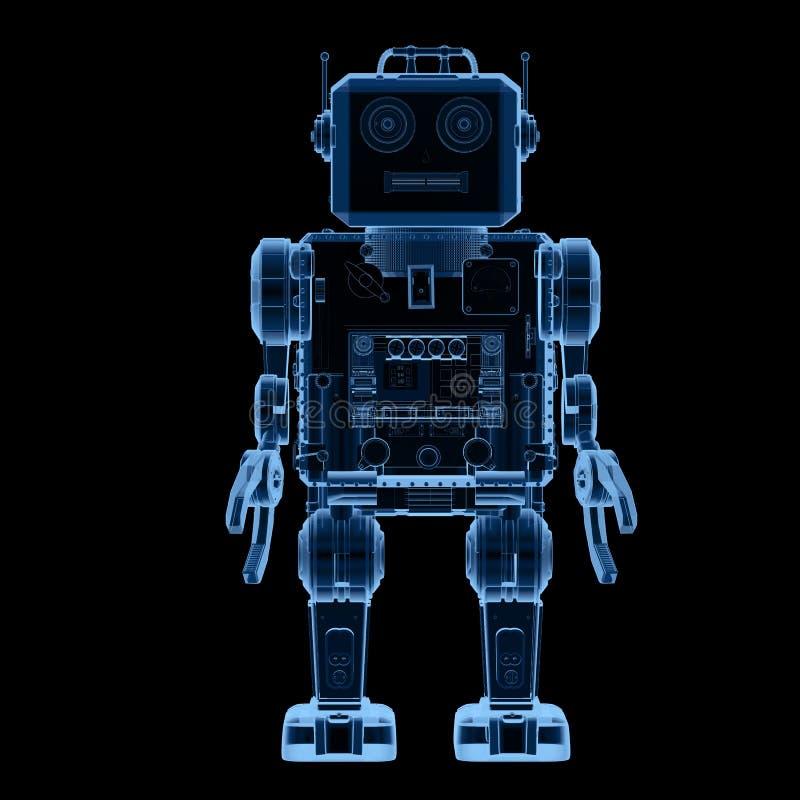 Juguete de la lata del robot de la radiografía stock de ilustración