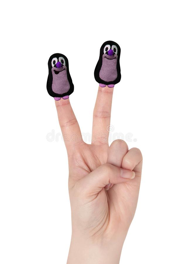 Juguete de la marioneta del finger fotos de archivo
