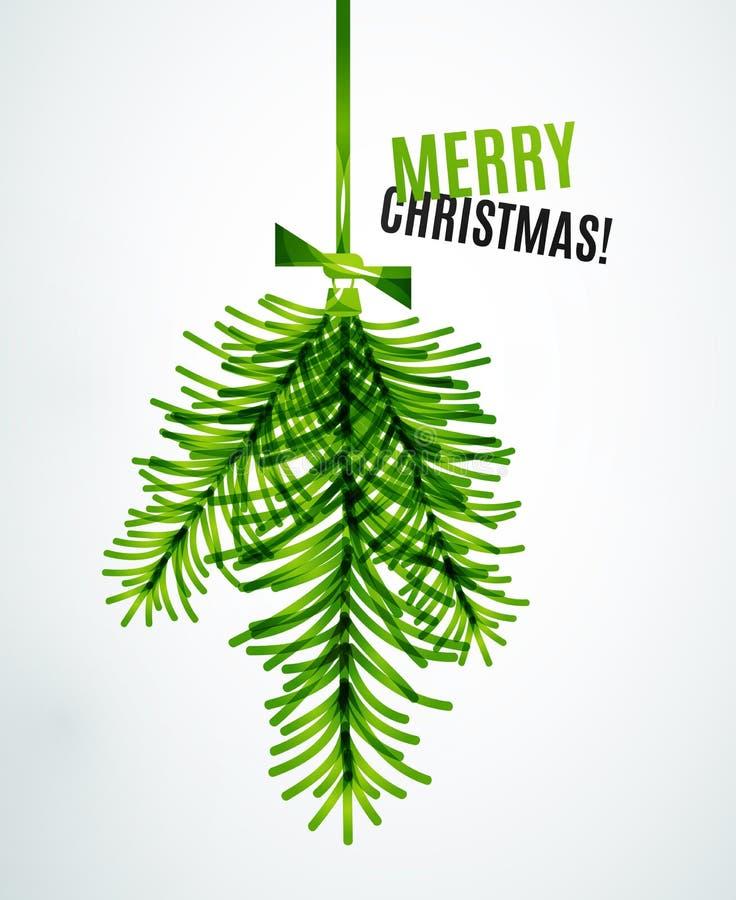 Juguete de la rama de árbol de navidad, concepto del Año Nuevo libre illustration