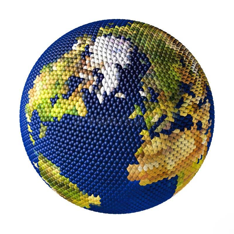Juguete de la tierra que consiste en las pequeñas bolas Groenlandia ilustración del vector