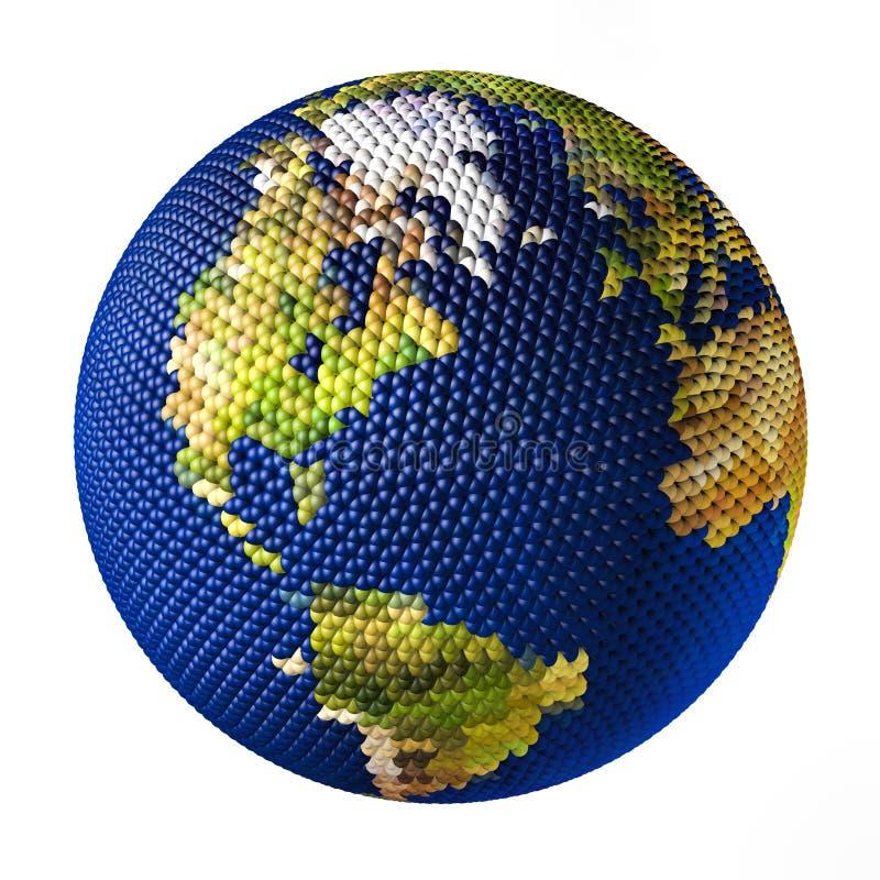 Juguete de la tierra que consiste en las pequeñas bolas Océano Atlántico libre illustration