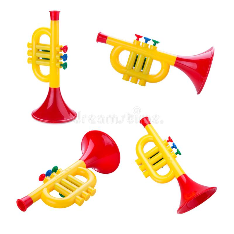 Juguete de la trompeta fotografía de archivo libre de regalías