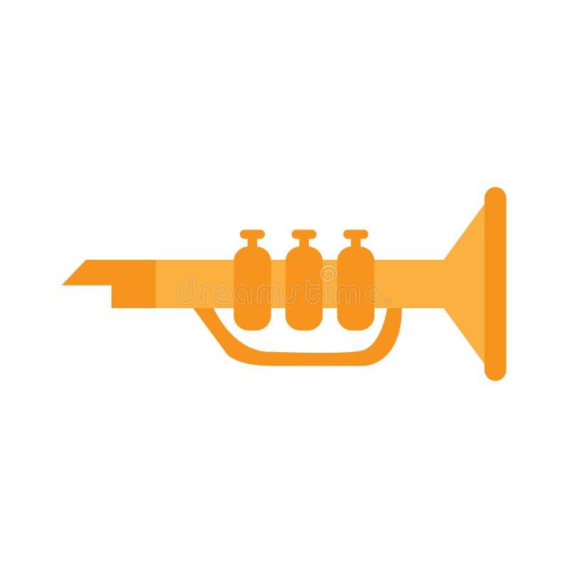 Juguete de la trompeta stock de ilustración