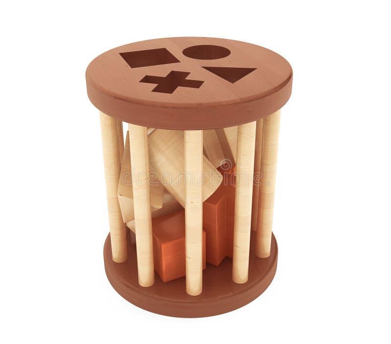 Juguete de madera del clasificador de la forma de los niños fotografía de archivo
