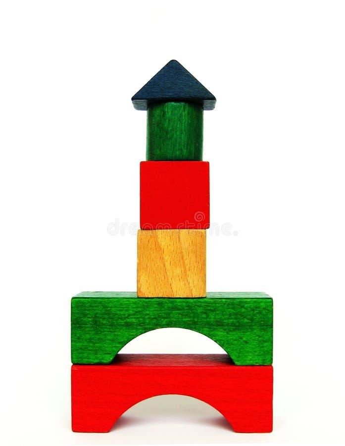 Juguete de madera del niño fotografía de archivo