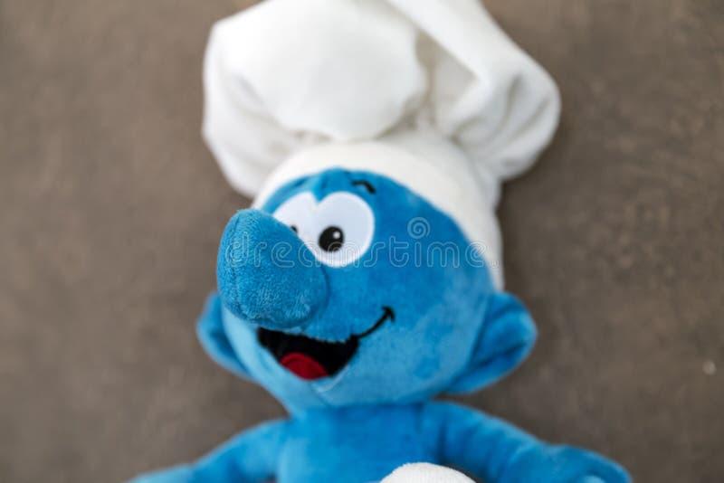 Juguete de Smurf fotos de archivo