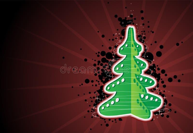 Juguete del árbol de navidad stock de ilustración