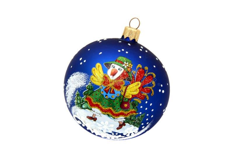 Juguete del árbol de navidad de la bola de la gallina foto de archivo libre de regalías
