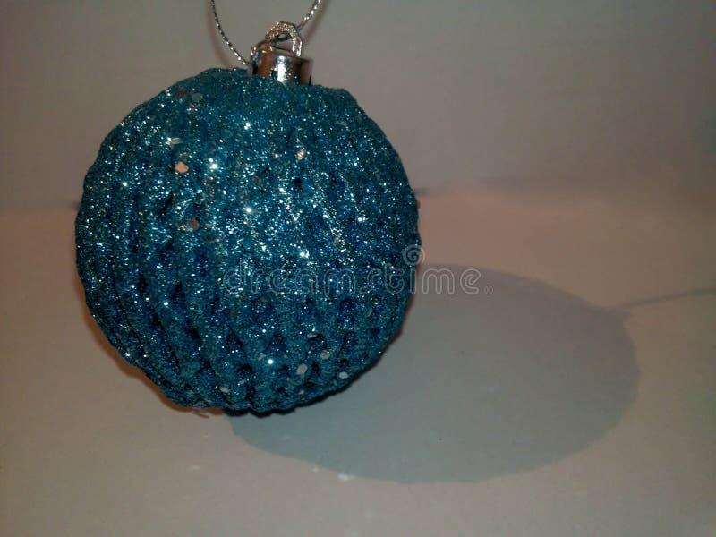 Juguete del azul de la Navidad foto de archivo libre de regalías