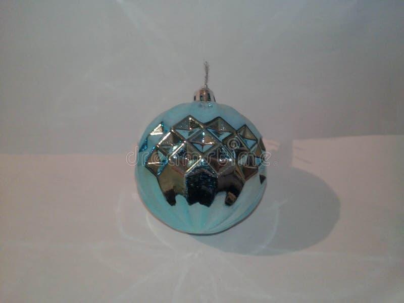 Juguete del azul de la Navidad fotografía de archivo libre de regalías