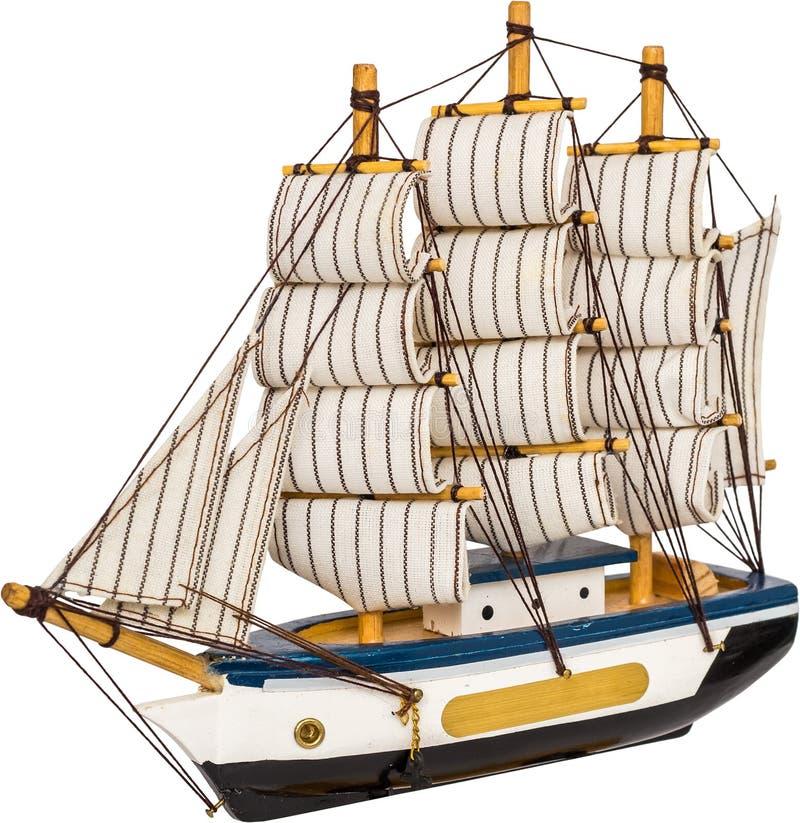 Juguete del barco de navegación fotografía de archivo libre de regalías