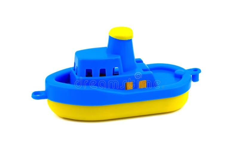 Juguete del barco plástico Aislado fotos de archivo libres de regalías