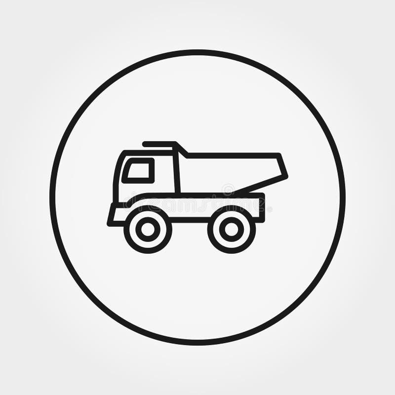 Juguete del camión volquete Icono universal Vector Línea fina Editable stock de ilustración