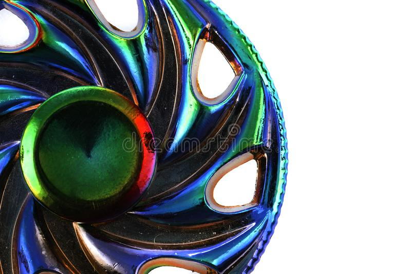 juguete del hilandero del metal del color imagenes de archivo