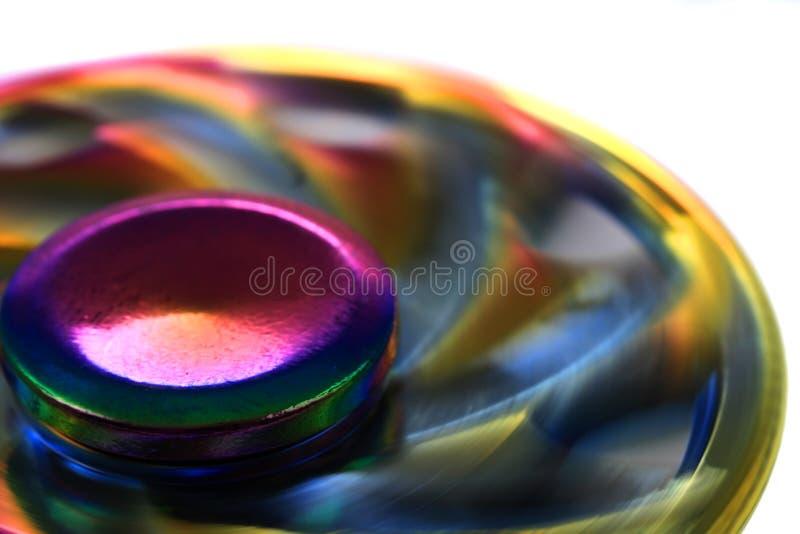 juguete del hilandero del metal del color fotos de archivo