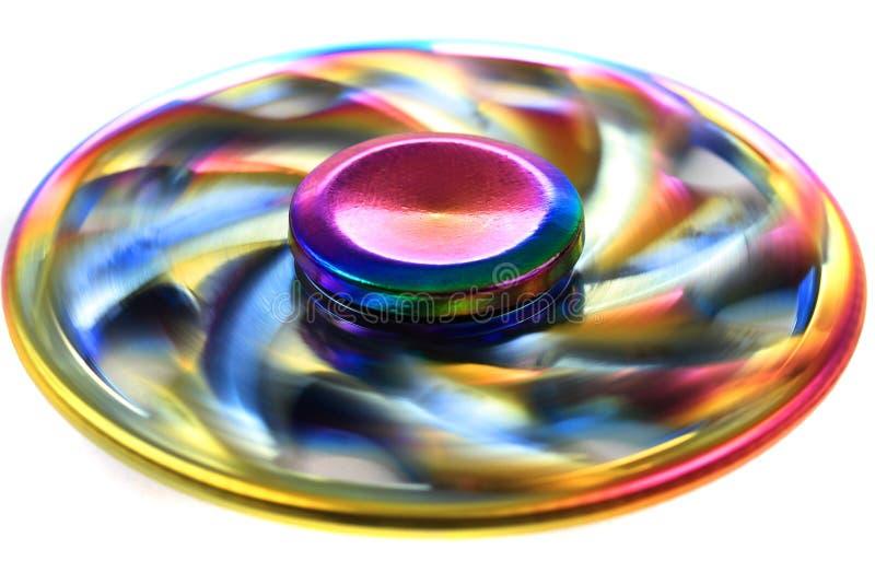 juguete del hilandero del metal del color imágenes de archivo libres de regalías