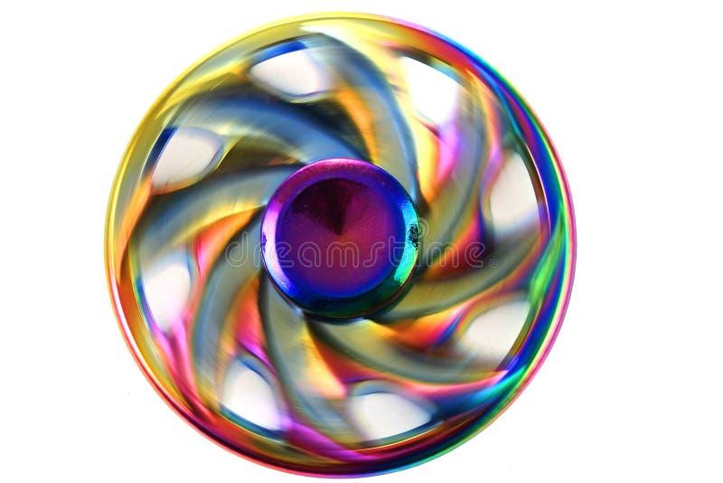 juguete del hilandero del metal del color fotografía de archivo