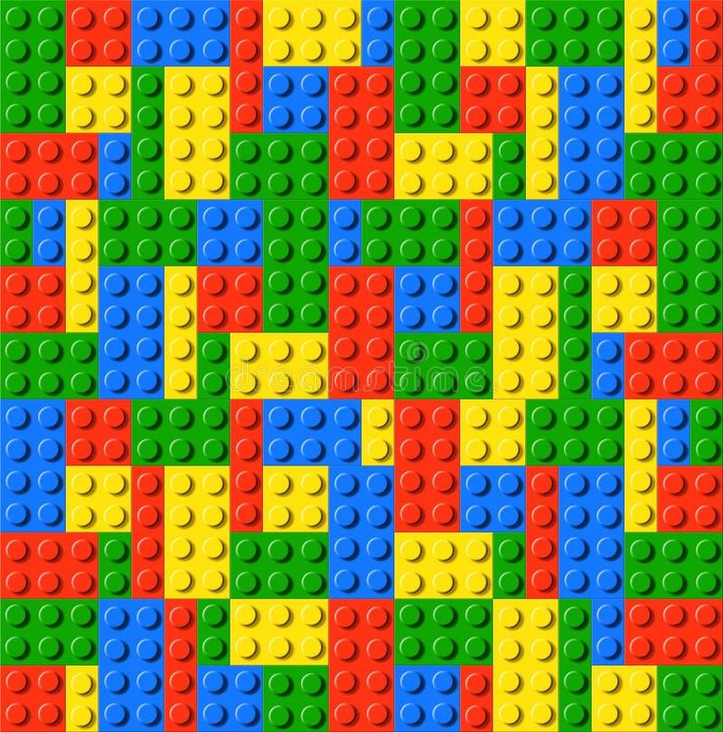 Juguete del ladrillo del lego de los niños ilustración del vector