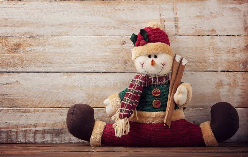 Juguete del muñeco de nieve foto de archivo libre de regalías