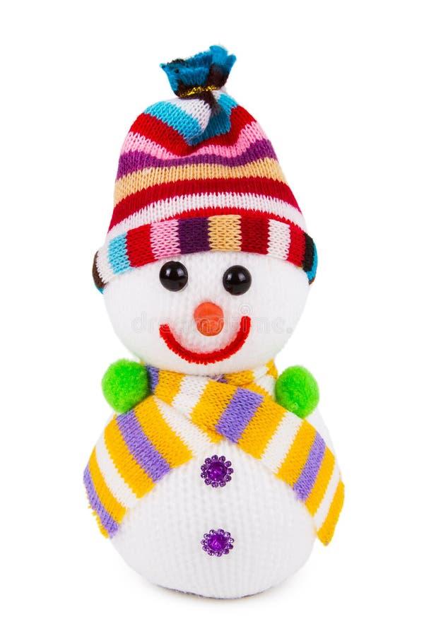 Juguete del muñeco de nieve fotos de archivo
