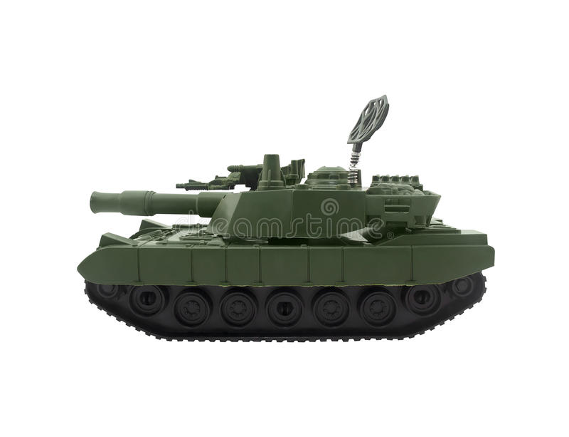 Juguete moderno del tanque imagen de archivo