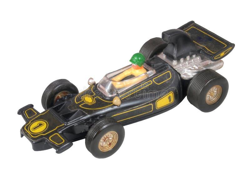 Juguete negro del coche de carreras/negro del Fórmula 1 fotos de archivo