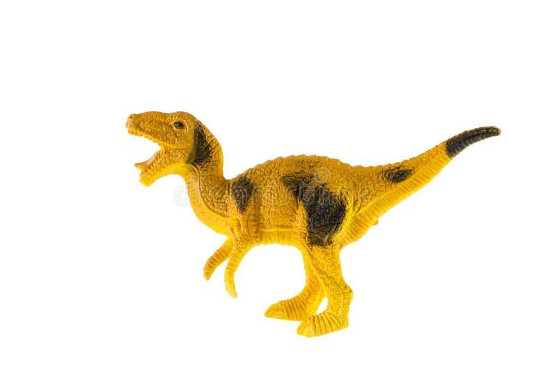 Juguete plástico del dinosaurio, Velociraptor fotografía de archivo
