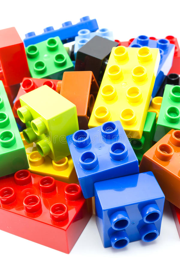 Juguete que construye bloques coloridos foto de archivo libre de regalías