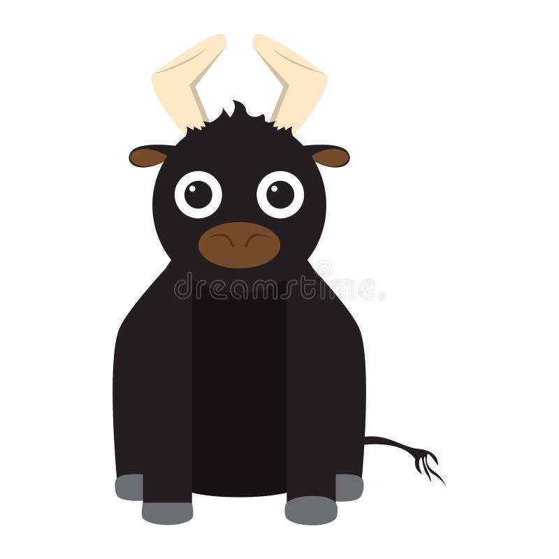 Juguete relleno aislado del toro ilustración del vector