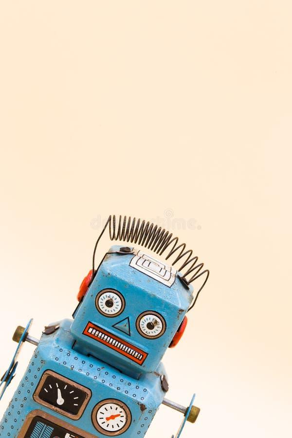 Juguete retro del robot fotos de archivo