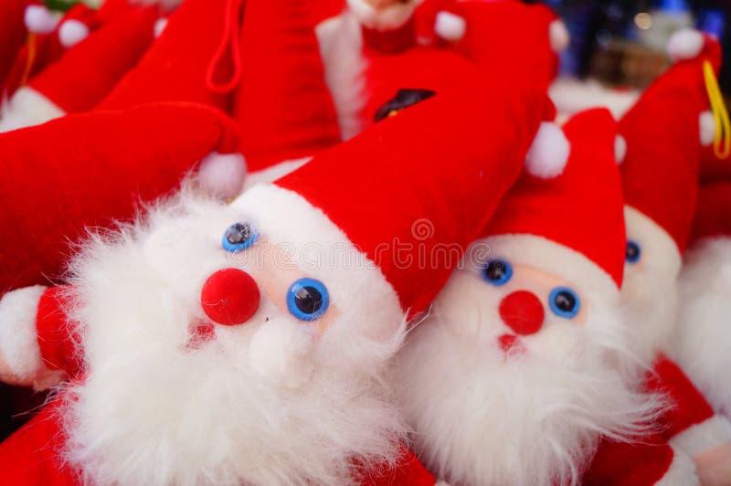 Juguete rojo de Santa Claus imagenes de archivo