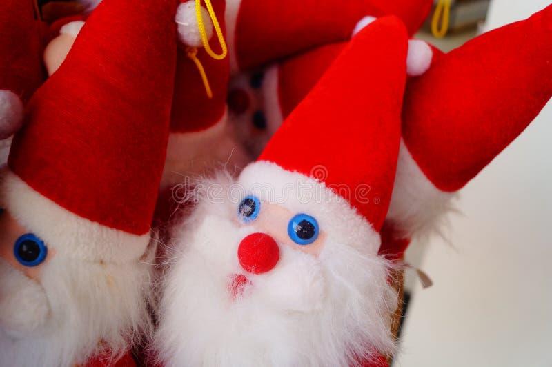 Juguete rojo de Santa Claus imagen de archivo libre de regalías